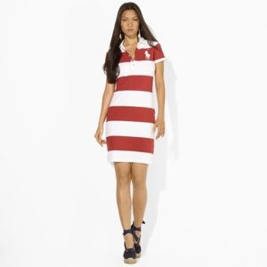 RALPH LAUREN - STRIPED POLO DRESS